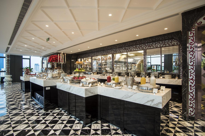 The Reverie Saigon - Cafe Cardinal - Breakfast Buffet Presentation & Open Kitchen