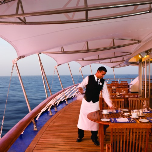 La Terrazza Outside - Deck 7 Aft Silver Wind - Silversea Cruises