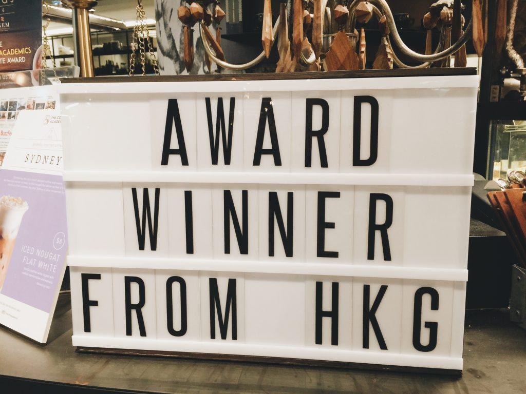 Award winner from HKG