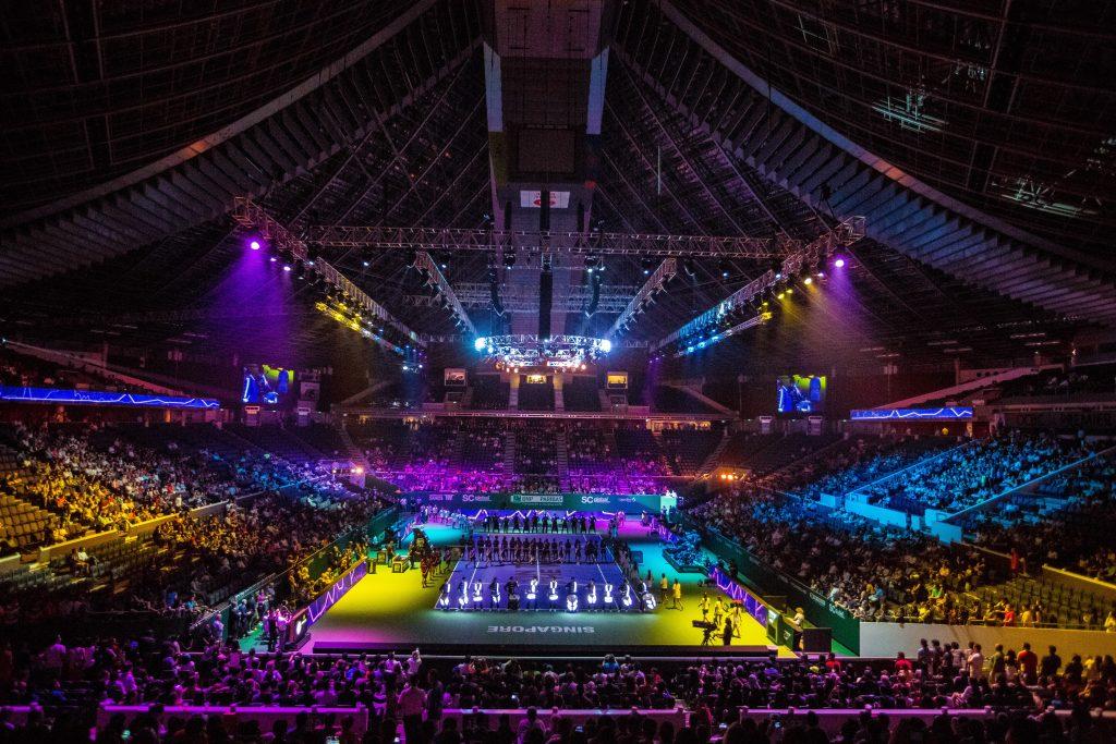 シンガポール WTF Finals Singapore テニス試合の開会式