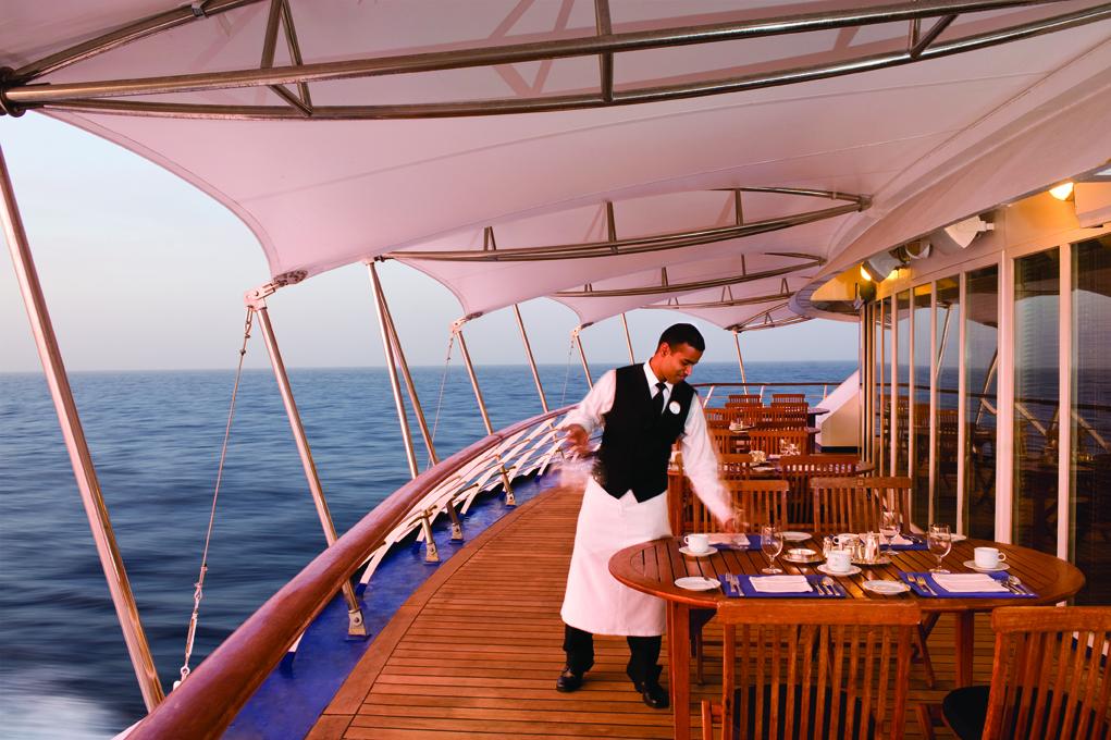 La Terrazza Outside - Deck 7 Aft Silver Wind - Silversea Cruises