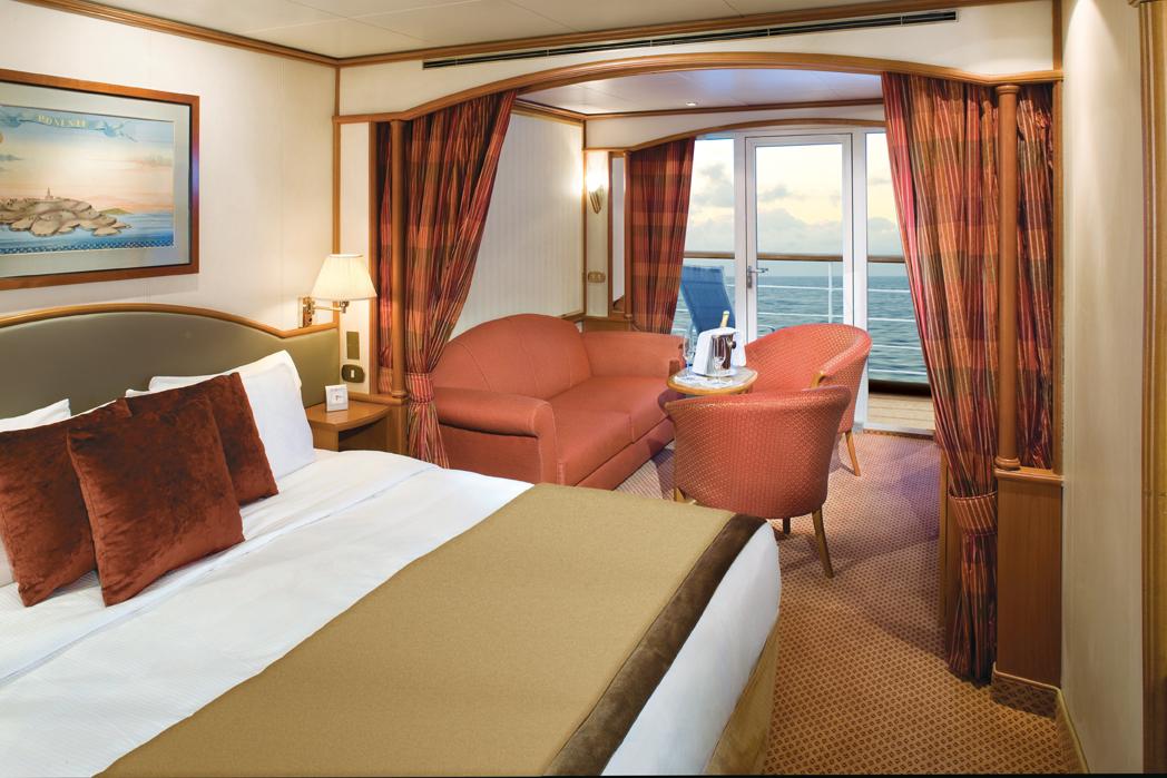 Veranda Suite Room #728 - Deck 7 Midship Silver Wind - Silversea Cruises