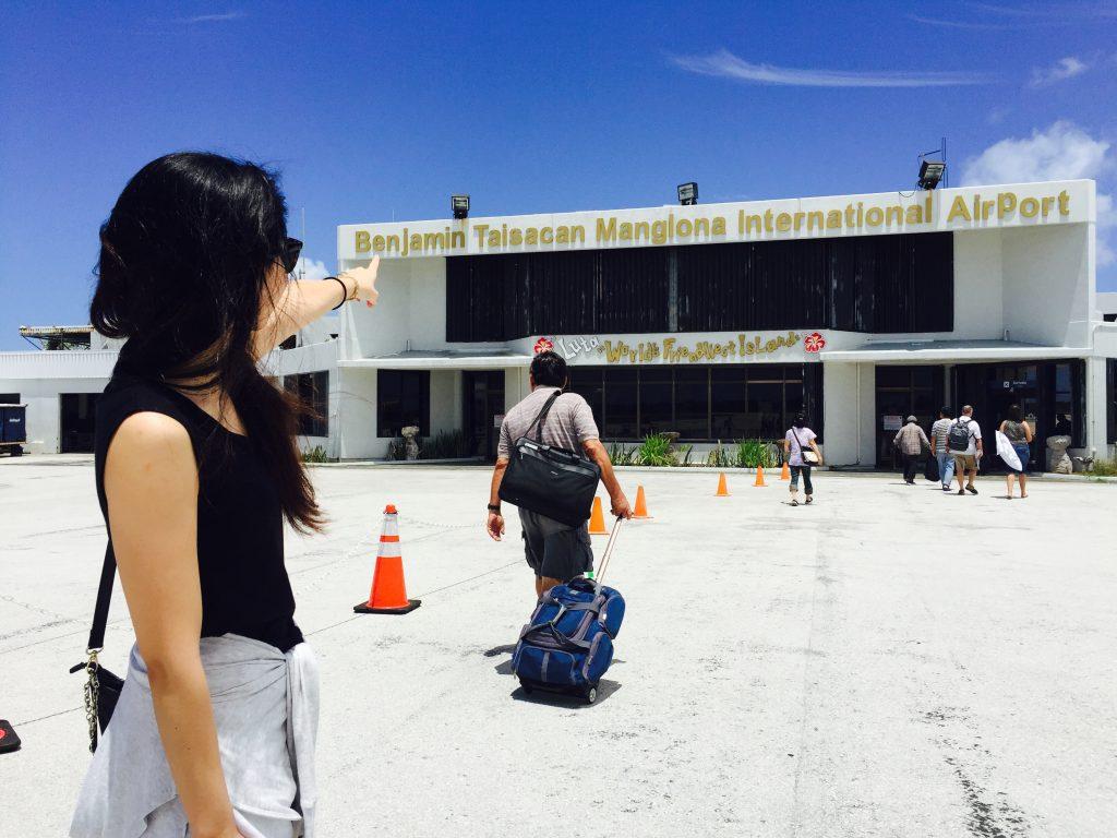 ロタの青い空と空港
