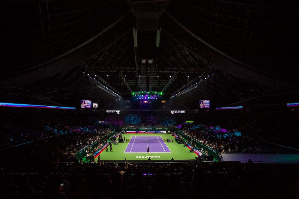 シンガポール WTF Finals Singapore テニス試合コート